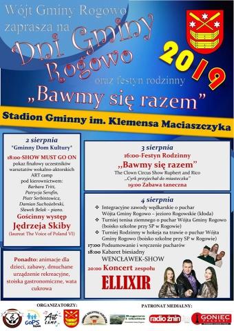 """Galeria dla Dni Gminy Rogowo oraz festyn rodzinny """"Bawmy się razem"""""""