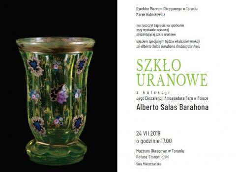 """Galeria dla Spotkanie z Ambasadorem Peru przy wystawie """"Szkło uranowe"""""""